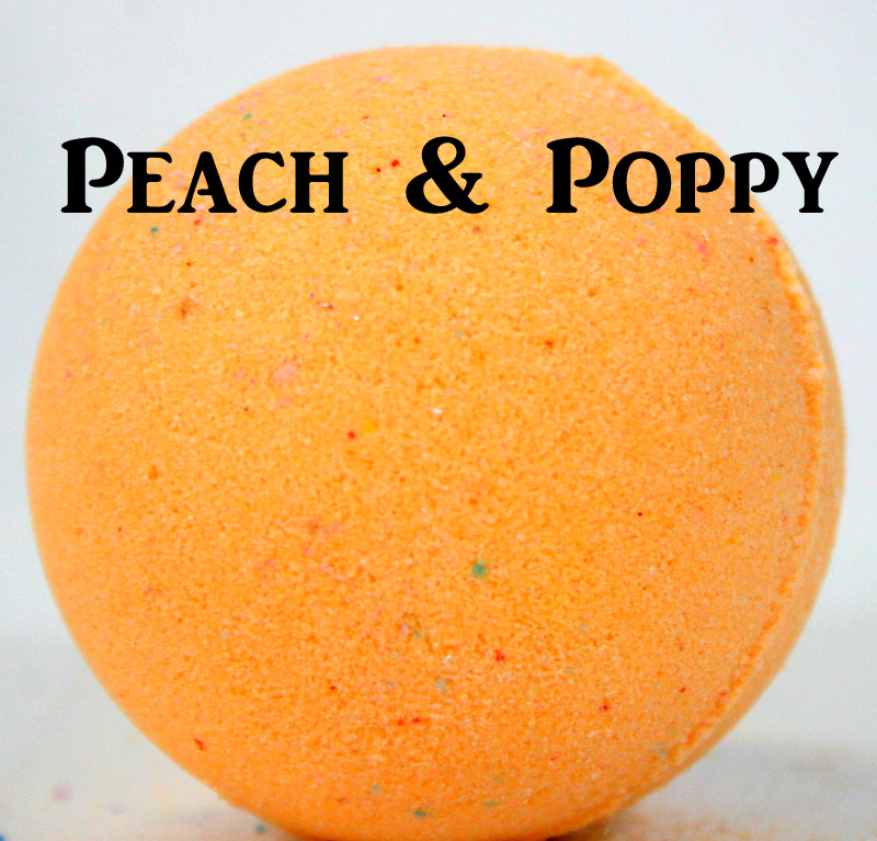 Peach & Poppy Bath Bomb